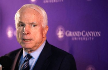 McCain praised GCU's willingness to open its doors to students who otherwise might not have had an opportunity to receive a college education.
