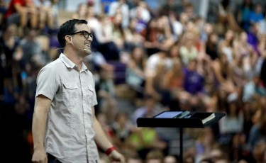 """Chapel speaker Jeff Gokee: """"We often get so wrapped up in our own lives that we don't even see Jesus in our midst."""""""