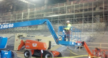 Renovation on GCU Arena is on schedule with workers doing 10-hour shifts six days a week.