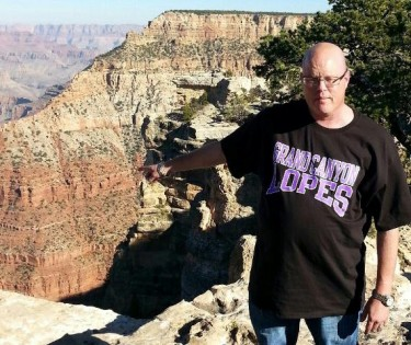 Howard Diamond visited GCU and the actual Canyon during his first trip to Arizona.