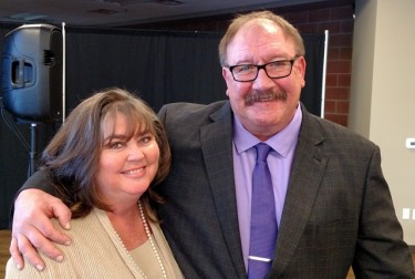 Eric Gabriel with his wife, Melissa