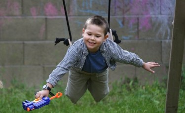 Tyler Stahlecker, 4, is the picture of health after more than two years of cancer treatments. (Photo by Darryl Webb)