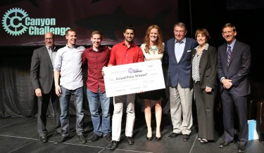 The Scruggs twins and Saleem earned $11,000 in two prizes for their business idea, Joblyt.