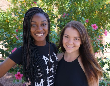 Dance students Monique Streety (left) and Nicole Mayes are Durham, N.C.,-bound for the American Dance Festival Six Week School.