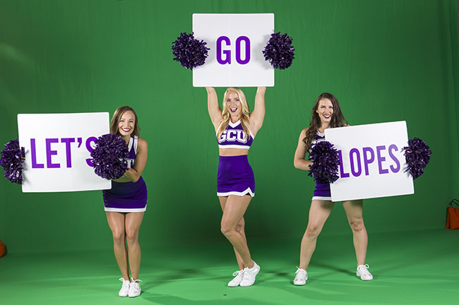 The GCU cheerleaders